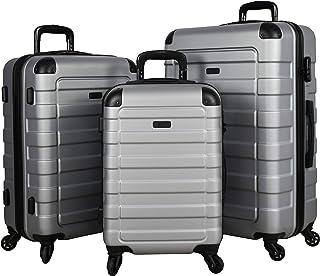 "Travel ""Prime"" 3-Piece Hardside Spinner Luggage Set (Silver)"