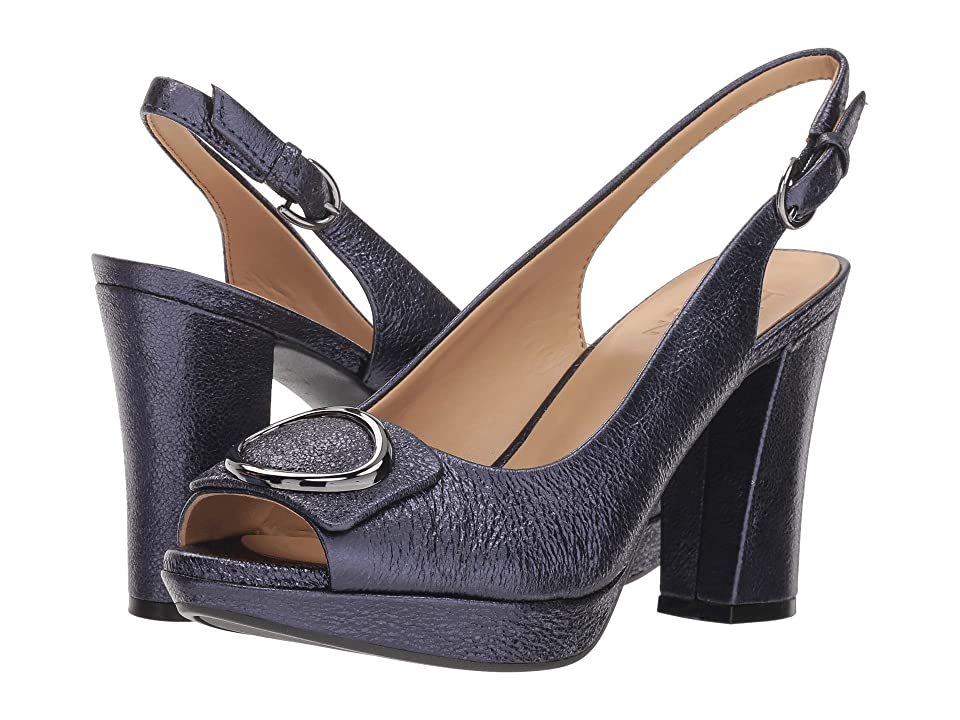 Naturalizer Abby (Navy Sparkle Metallic Leather) High Heels