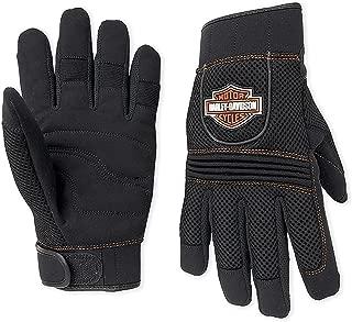 Harley-Davidson Men's Bar & Shield Full-Finger Mesh Gloves 98263-07VM Black Size 2XL