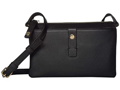 Vince Camuto Adler Crossbody (Black) Handbags