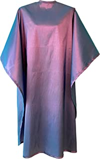 JNxcel Premium Quality Water Repellent Nylon/Polyester Fabric Hair Salon & Barber Hair Cutting & Shampoo Cape with Snap Closure (Iridescent Purple Violet)