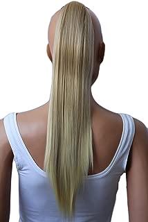 PRETTYSHOP Clip de en las extensiones postizos extensiones de cabello pelo liso largo hechos de fibras sintéticas resistentes al calor 50cm rubio # 16T613 H150