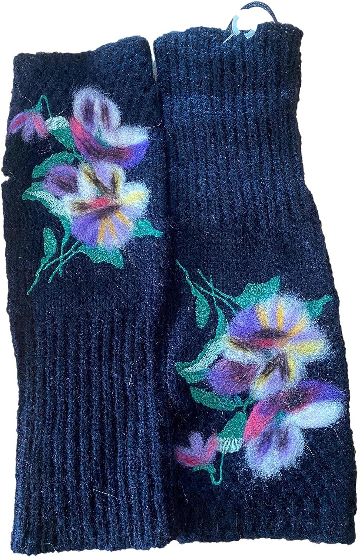 Troubadour Winter Fingerless Gloves Black (Size None)