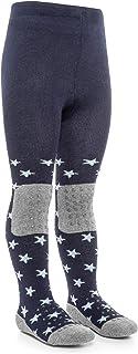 LaLoona baby bedding, Laloona Baby - Leotardos para gatear con suela ABS - Leotardos antideslizantes con puntos para niños Estrellas-Azul