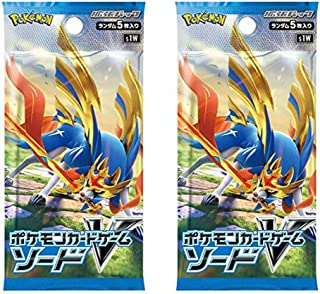 Pokemon (1pack) Card Game V Sword & Shield Expansion Pack Sword Japanese.ver 2set(5 Cards Included)