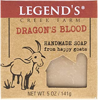 Dragon's Blood Goat Milk Soap - 5 Oz Handmade Bar - Great For Sensitive Skin - Certified Cruelty Free