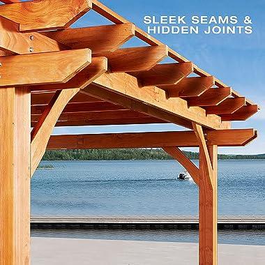 U-MAX Outdoor Pergola with Porch Swing 12'x10'Outdoor Wood Deck Garden Patio Gazebo with Comfort Hanging Bench Swing