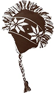 Peach Couture Winter Trooper Trapper Snowflake Mohawk Double layered Unisex Ski hat