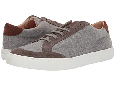 eleventy Mixed Media Sneaker (Grey/Taupe) Men