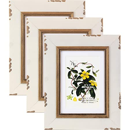 White Black Gold Picture Frame Flower Picture Frame White Picture Frame 4 x 6 Picture Frame