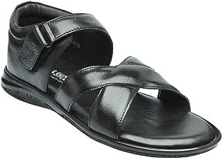 Heels & Shoes Men's Leather Sandals - Brown