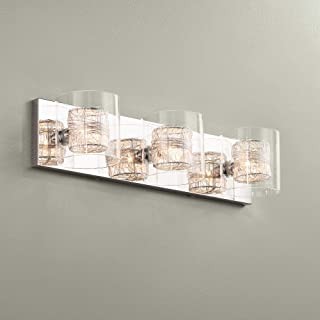 Modern Wall Light Chrome Wrapped Wire 22