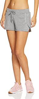 Lorna Jane Women's Reflect Run Shorts, Light Grey Marl