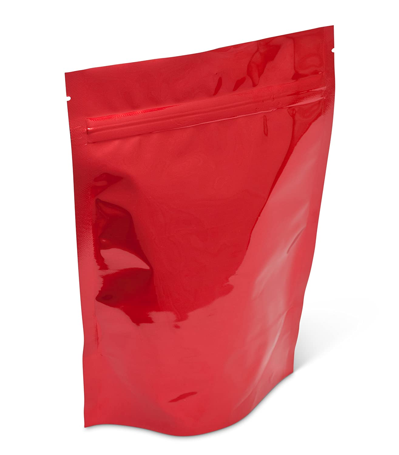 Pacific Bag 400-311BRZ Stand-Up Pouch 8 Red with Zip Limited price 55% OFF sale Bright oz