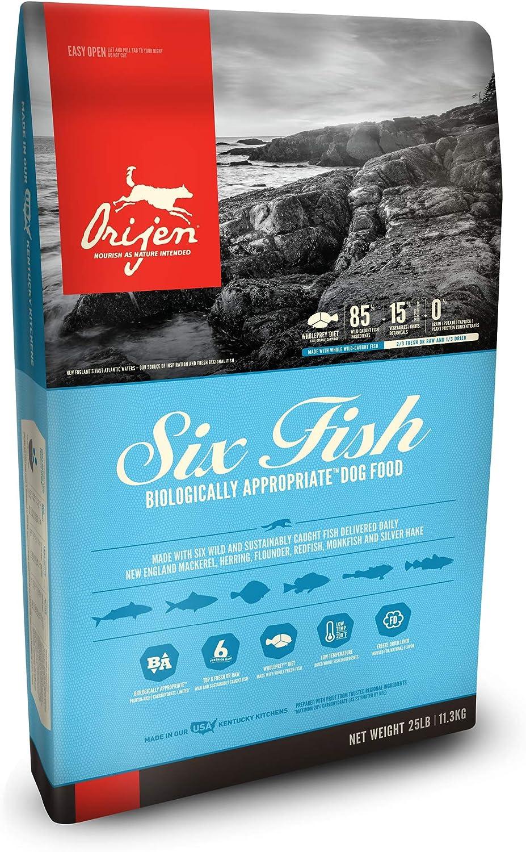 ORIJEN Dry Dog Food, Six Fish, Biologically Appropriate & Grain Free