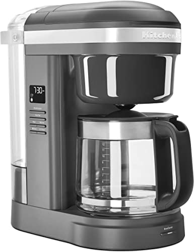 high quality KitchenAid KCM1208DG Spiral high quality sale Showerhead 12 Cup Drip Coffee Maker, Matte Charcoal Grey outlet online sale