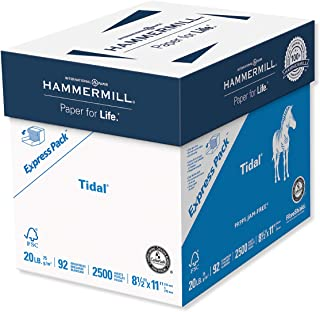 Hammermill Printer Paper, Tidal 20 lb Copy Paper, 8.5 x 11 - Express Pack (2,500 Sheets) - 92 Bright, Made in the USA, 163120