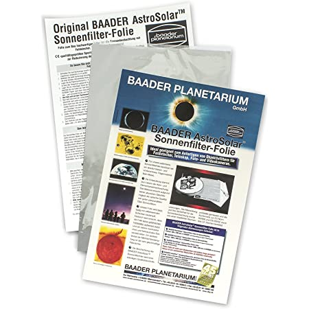 Baader Planetarium AstroSolar Safety Film Visual, 7.9x11.4 (20x29cm)