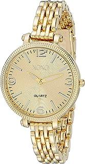 ساعة اكس او اكس او للنساء بشاشة عرض انالوج، ذهبي، XO5754