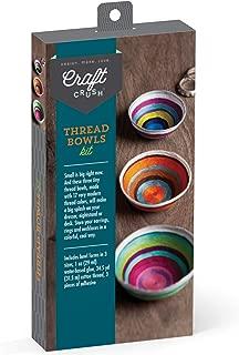 Craft Crush – Thread Bowls Kit – Craft Kit Makes 3 Tiny Thread Bowls