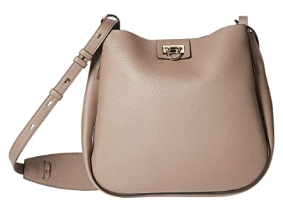 Salvatore Ferragamo Reverse Hobo (Caraway Seed) Hobo Handbags