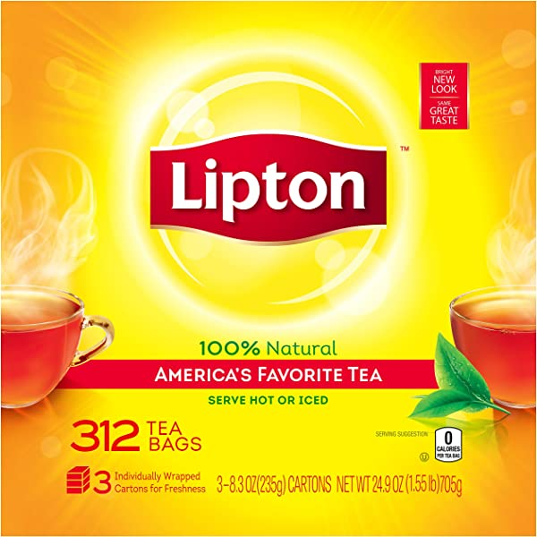 Lipton Black Tea Bags America S Favorite Tea 312 Count