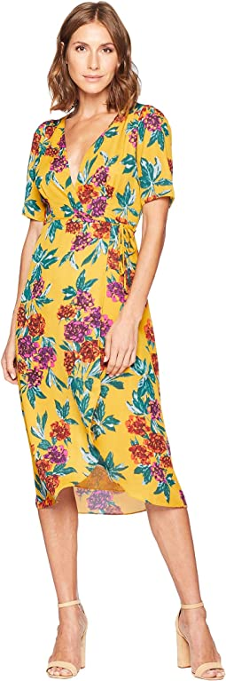 Jade Floral Wrap Dress