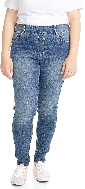 Suko jeans Women's Plus Size Pull On Strech Denim Jean