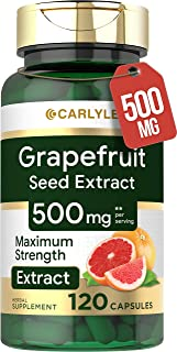Carlyle Grapefruit Seed Extract 500 mg 120 Capsules – Maximum Strength, Immune Formula, Non-GMO, Gluten Free