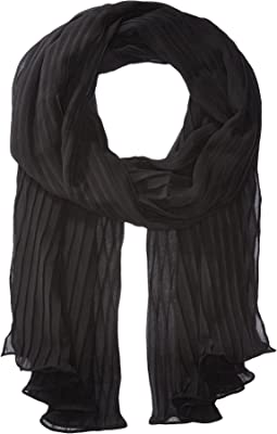 Steve Madden Solid Georgette Pleated Eve Wrap