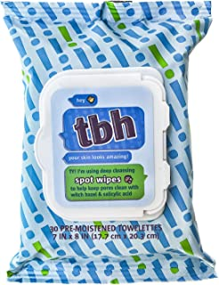 TBH Kids Spot Wash Wipes - Cleansing Face Wipes - Acne Prevention - Sulfate, Paraben Free - 30 Pack