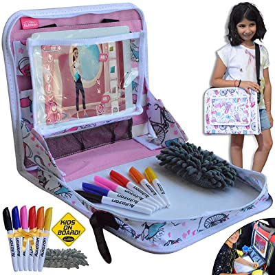 Kids Travel Tray for Girls - Car Seat Travel Pl...