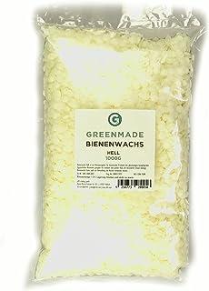 greenmade Bienenwachs Pastillen hell 1000g ideal für Kosmetik, Creme, Handcreme und Kerzen