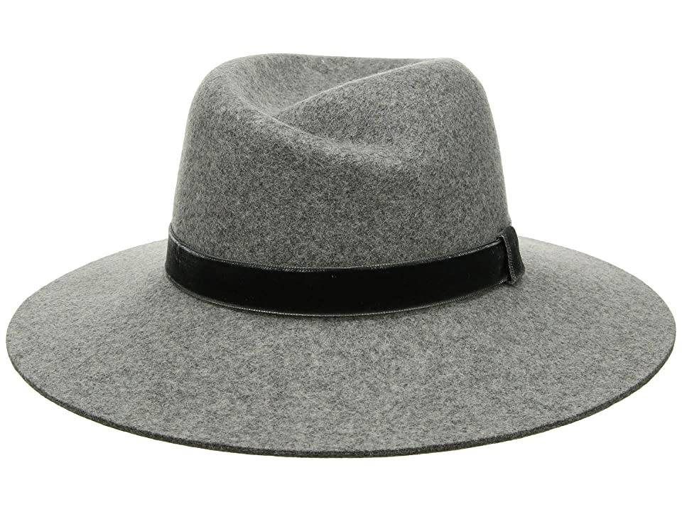 1930s Style Hats | 30s Ladies Hats rag  bone Zoe Fedora Light Heather Grey 1 Fedora Hats $225.00 AT vintagedancer.com