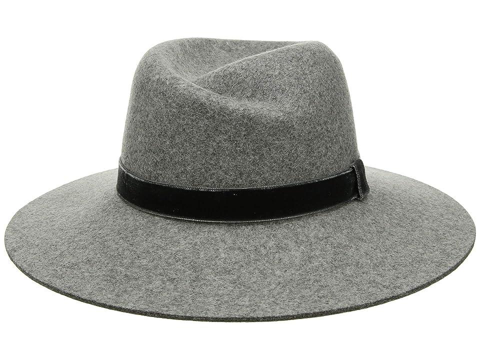 Women's Vintage Hats | Old Fashioned Hats | Retro Hats rag  bone Zoe Fedora Light Heather Grey 1 Fedora Hats $225.00 AT vintagedancer.com