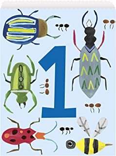 Unique Party 73353 - Paper Bug 1st Birthday Party Bags, Pack of 8