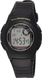 ساعة كاسيو رقمية بمينا متعددة الالوان للرجال، مصنوعة من المطاط - F-200W-9ADF