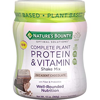 Nature's Bounty® Optimal Solutions Complete Plant Protein & Vitamin Decadent Chocolate Shake Mix
