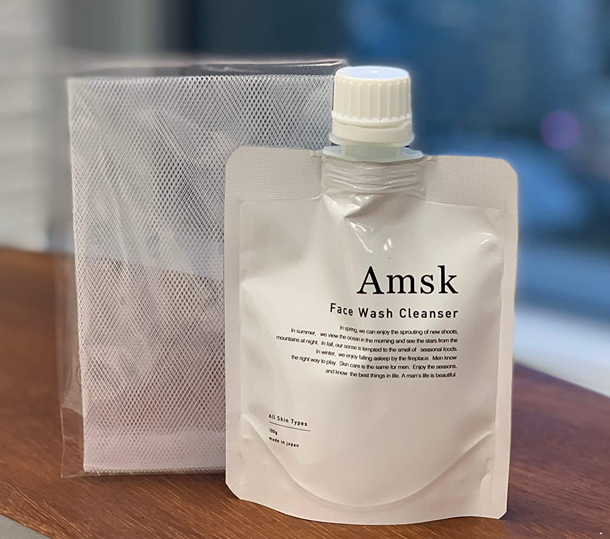 むき出し振り子ボイコットニューステクノロジー Amsk フェイスウォッシュクレンザー 100g