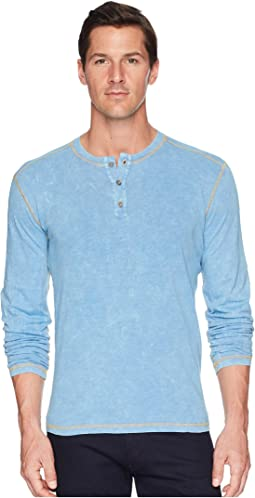 Agave Denim - Freight Train Long Sleeve Three-Button Henley