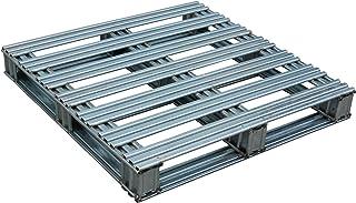 "Vestil SPL-3636 Galvanized Finished Steel Pallet, Uniform Floor Static Capacity 8000 lb, Uniform Fork Dynamic Capacity 4000 lb, Unsupported Pallet Rack Capacity 2200 lb, 36"" Length, 36"" Width, 10"" Height"