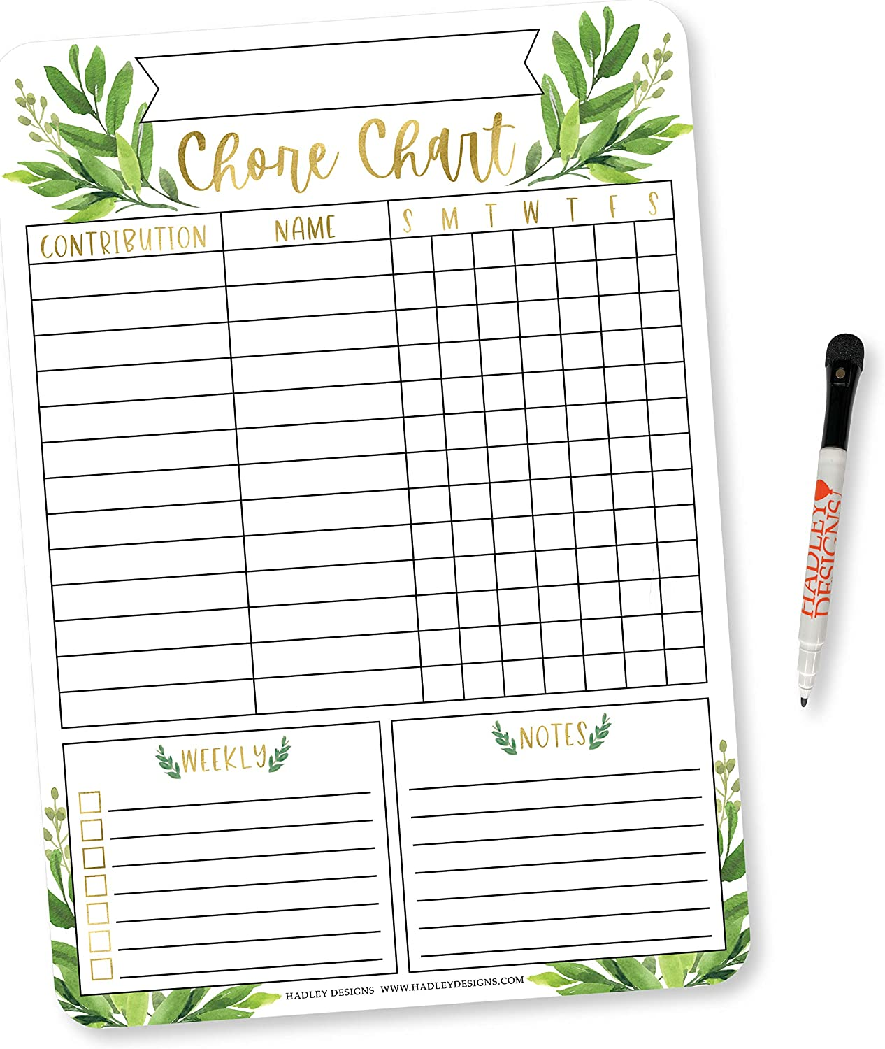 Buy Gold Greenery Family Chore Chart For Adults Magnetic Chore Chart For Teens Kids Reward Chart For Toddlers At Home Boho Chore Reward Chart System For Kids My Magnetic Responsibility Chart For