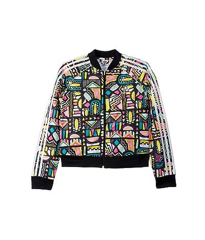 adidas Originals Kids Bel Air Crop Superstar Jacket (Little Kids/Big Kids) (Multicolor/White) Girl