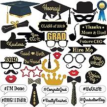 KatchOn Graduation Photo Booth Props - 2019 Graduation Decorations for Graduation Party Supplies 2019, Class of 2019, Congrats Grad, Large Size for More Fun, 40 Count