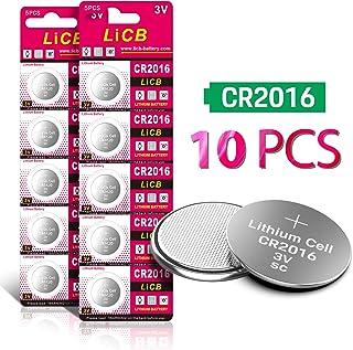 10 Pilas de Litio CR2016 de 3 V