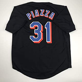 Unsigned Mike Piazza New York Black Custom Stitched Baseball Jersey Size Men's XL New No Brands/Logos