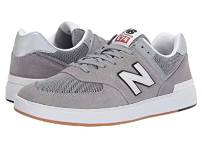 New Balance Numeric AM574 (Grey/White) Men