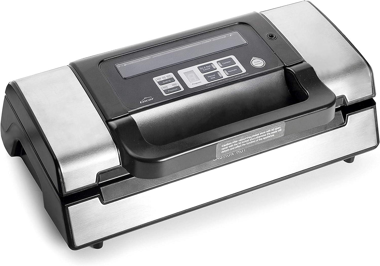 Lacor 69353 69353-Máquina de vacío Efficient Profesional, Libre de BPA, 130 W, Acero Inoxidable