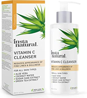Best InstaNatural Facial Cleanser - Vitamin C Face Wash - Breakout & Blemish, Wrinkle Reducing, Exfoliating Gel - Clear Pores on Oily, Dry & Sensitive Skin with Organic & Natural Ingredients - 6.7 oz Review