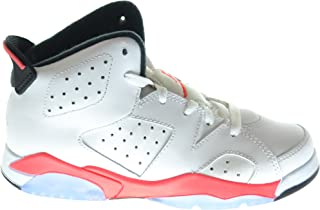 Jordan Air 6 Retro (BP) Little Kids Basketball Shoes White/Infrared-Black 384666-123